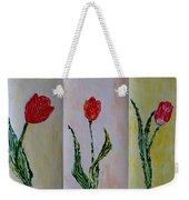 Trio Of  Red Tulips Weekender Tote Bag