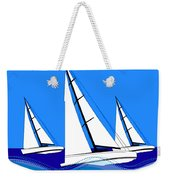 Trio Of Sailboats Weekender Tote Bag