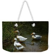 Triple Ducks Weekender Tote Bag