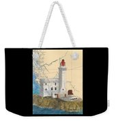 Triple Islands Lighthouse Bc Canada Chart Art Weekender Tote Bag