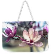 Triple Purple Flowers Weekender Tote Bag