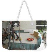 Tripod And Bowl Of Fruit Weekender Tote Bag