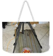 Tripod And Cherries On Floor Weekender Tote Bag