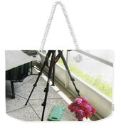Tripod And Roses On Floor Weekender Tote Bag