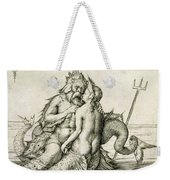 Triton With The Nereid Weekender Tote Bag