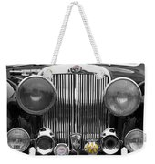 Triumph Roadster Front End Selective Color Weekender Tote Bag