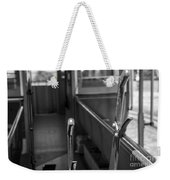Trolley 28 Leaver Black And White Weekender Tote Bag