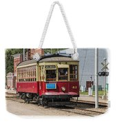 Trolley Car At The Fort Edmonton Park Weekender Tote Bag