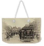 Trolley Car Main Street Disneyland Heirloom Weekender Tote Bag