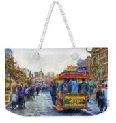 Trolley Car Main Street Disneyland Photo Art 02 Weekender Tote Bag