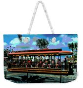 Trolley Stop Weekender Tote Bag