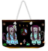 Trolls In Hippie Wood Weekender Tote Bag