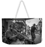 Trombone In New Orleans 2 Weekender Tote Bag by David Morefield