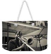 Trombone In New Orleans Weekender Tote Bag by David Morefield