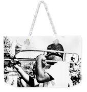 Trombone Man Bw Weekender Tote Bag
