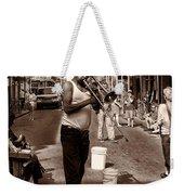 Trombone Man On Royal St. New Orleans Weekender Tote Bag