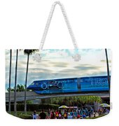 Tron Monorail At Walt Disney World Weekender Tote Bag by Thomas Woolworth