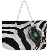 Trophy Hunter In Eye Of Dead Zebra Weekender Tote Bag