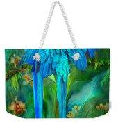 Tropic Spirits - Gold And Blue Macaws Weekender Tote Bag