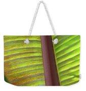 Tropical Banana Leaf Abstract Weekender Tote Bag