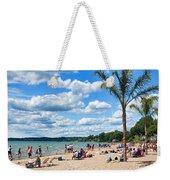 Tropical Beach In Port Dover Weekender Tote Bag