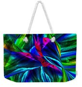 Tropical Bird Sits On A Tropical Tree Weekender Tote Bag