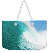 Tropical Blue Ocean Wave Weekender Tote Bag