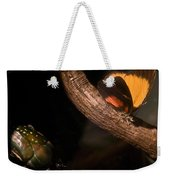 Tropical Butterfly And Rhinoceros Beetle Weekender Tote Bag