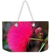 Red Mimosa Flower Weekender Tote Bag