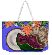 Tropical Fruit Weekender Tote Bag by Christine Fournier