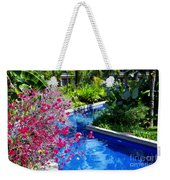 Tropical Garden Around Pool Weekender Tote Bag