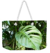 Tropical Green Foliage Weekender Tote Bag