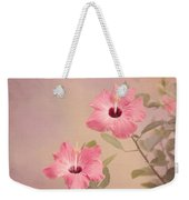 Tropical Hibiscus Weekender Tote Bag by Kim Hojnacki