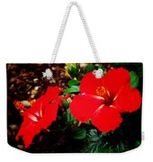 Tropical Hibiscus - Starry Wind 01a Weekender Tote Bag