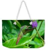 Tropical Hummingbird Weekender Tote Bag