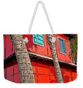 Tropical Orange House Palm Trees - Whoa Now Weekender Tote Bag