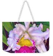 Tropical Orchid Weekender Tote Bag by Jane Schnetlage