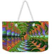 Tropical Swirls Layered Weekender Tote Bag