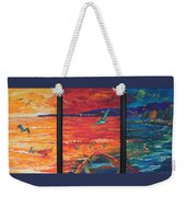 Tropical Trance Triptych Weekender Tote Bag