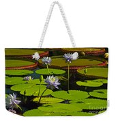 Tropical Water Lily Flowers And Pads Weekender Tote Bag