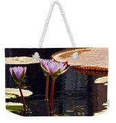 Tropical Waters Floral Charm Weekender Tote Bag