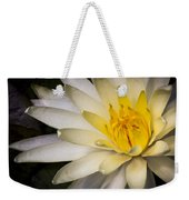 Tropical White Water Lily Weekender Tote Bag