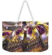 Tropical Wind Painted Abstract Weekender Tote Bag