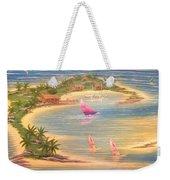 Tropical Windy Island Paradise Weekender Tote Bag
