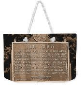 Troup Factory Historical Marker Weekender Tote Bag