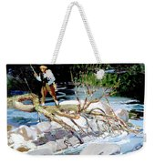 Trout Fishing Weekender Tote Bag