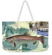 Trout Fishing In America Postcard Weekender Tote Bag