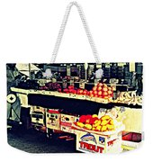 Vintage Outdoor Fruit And Vegetable Stand - Markets Of New York City Weekender Tote Bag