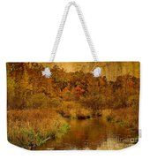 Trout Stream Textured Weekender Tote Bag