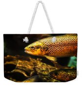Trout Swiming In A River Weekender Tote Bag